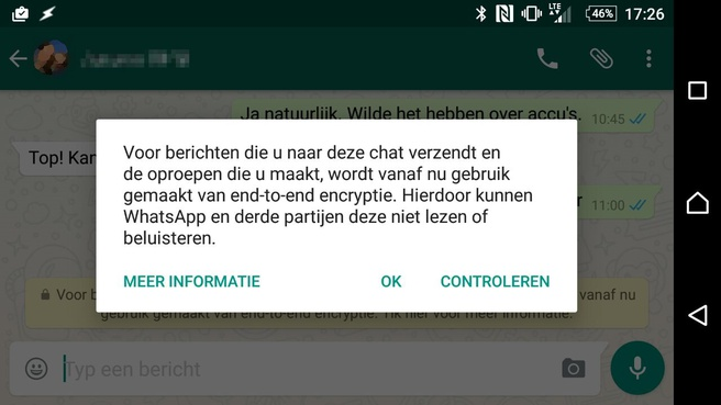 WhatsApp-encryptie