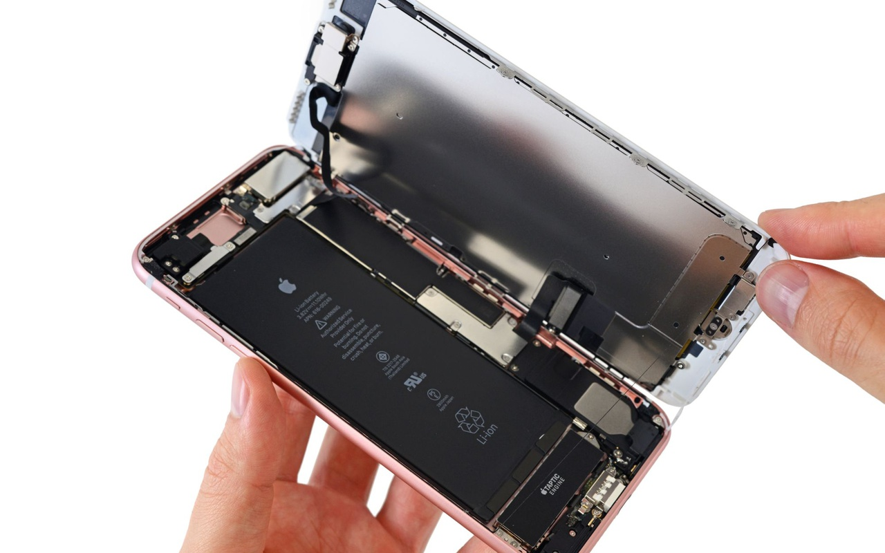 iFixit-teardown van iPhone 7 Plus