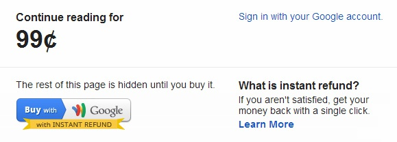 Micropayments met Google Wallet