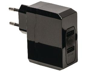 König Universele USB-adapter met dubbele poort 1 A en 2,4 A (CS34UW001BL)