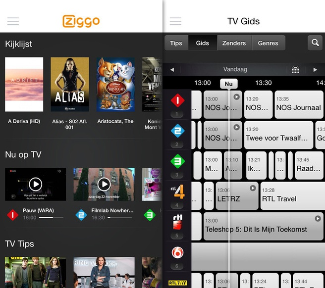 Ziggo tv-app