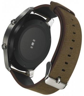 qMust Samsung Gear S3 Lederen Armband Bruin - Groen