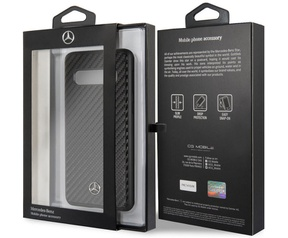 Mercedes-Benz Carbon Hard Case - Samsung Galaxy S10 - Zwart  Zwart