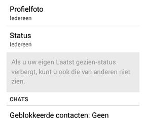 Blauwe vinkjes WhatsApp kunnen uit in testversie