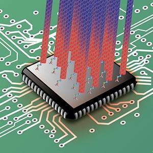 Koolstof nanobuisjes cpu-koeler illustratie