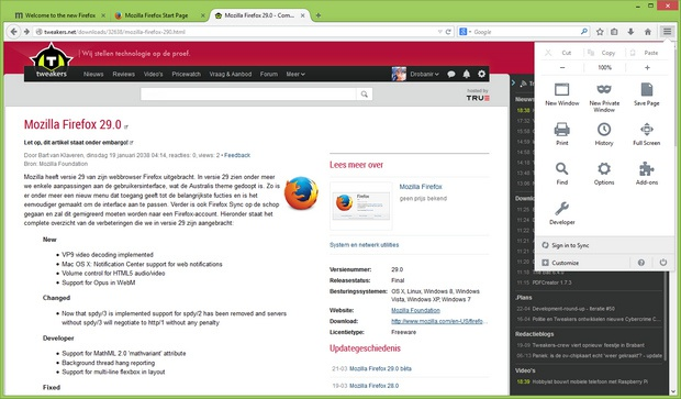 Mozilla Firefox 29.0 screenshot (620 pix)