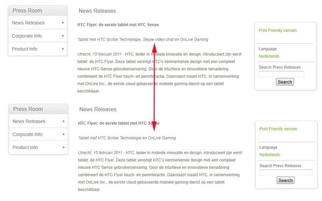 Persbericht HTC Flyer