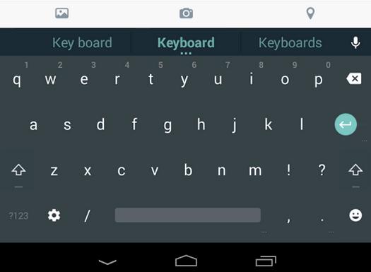 Toetsenbord Android