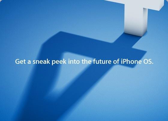 Uitnodiging Apple iPhone OS 4-event