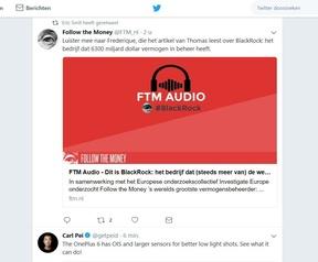 Site van Twitter op desktop mei 2018
