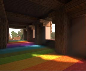 Raytracing in Minecraft
