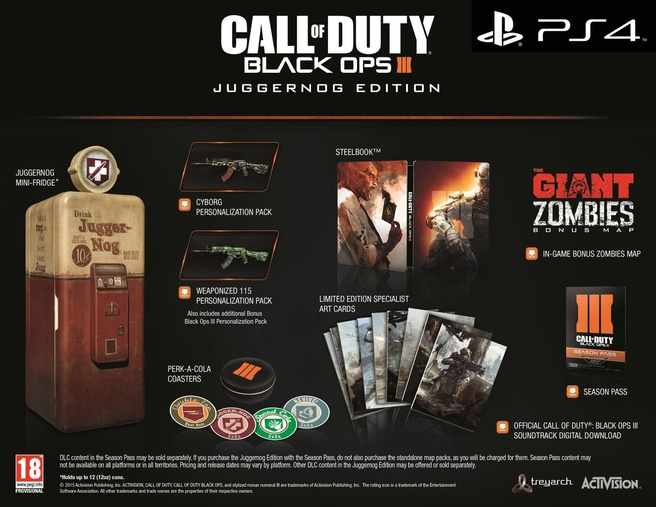 Call of Duty Black Ops III Juggernog Edition, PlayStation 4