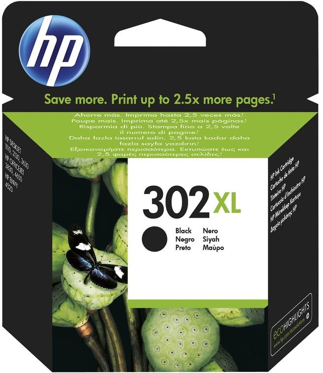 HP 302XL - Zwart - origineel - inktcartridge - voor Officejet 3830