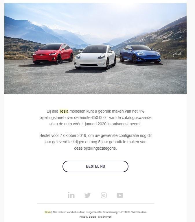 Tesla Mail - bestel voor 7 oktober