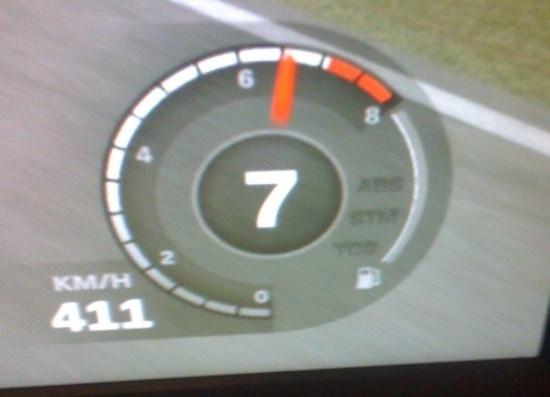 411 km per uur in een Bugatti Veyron