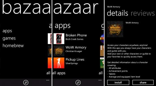 Windows Phone Bazaar