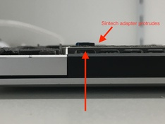 SSD MacBookPro12,1 long Sintech adapter side2