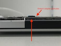 SSD MacBookPro12,1 long Sintech adapter side2