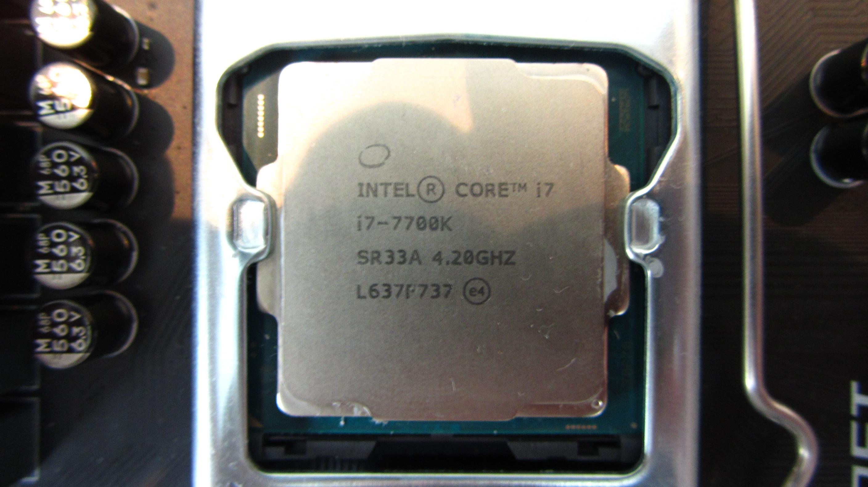 CPU socket front