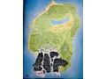 Map GTA V met map van GTA IV geprojecteerd
