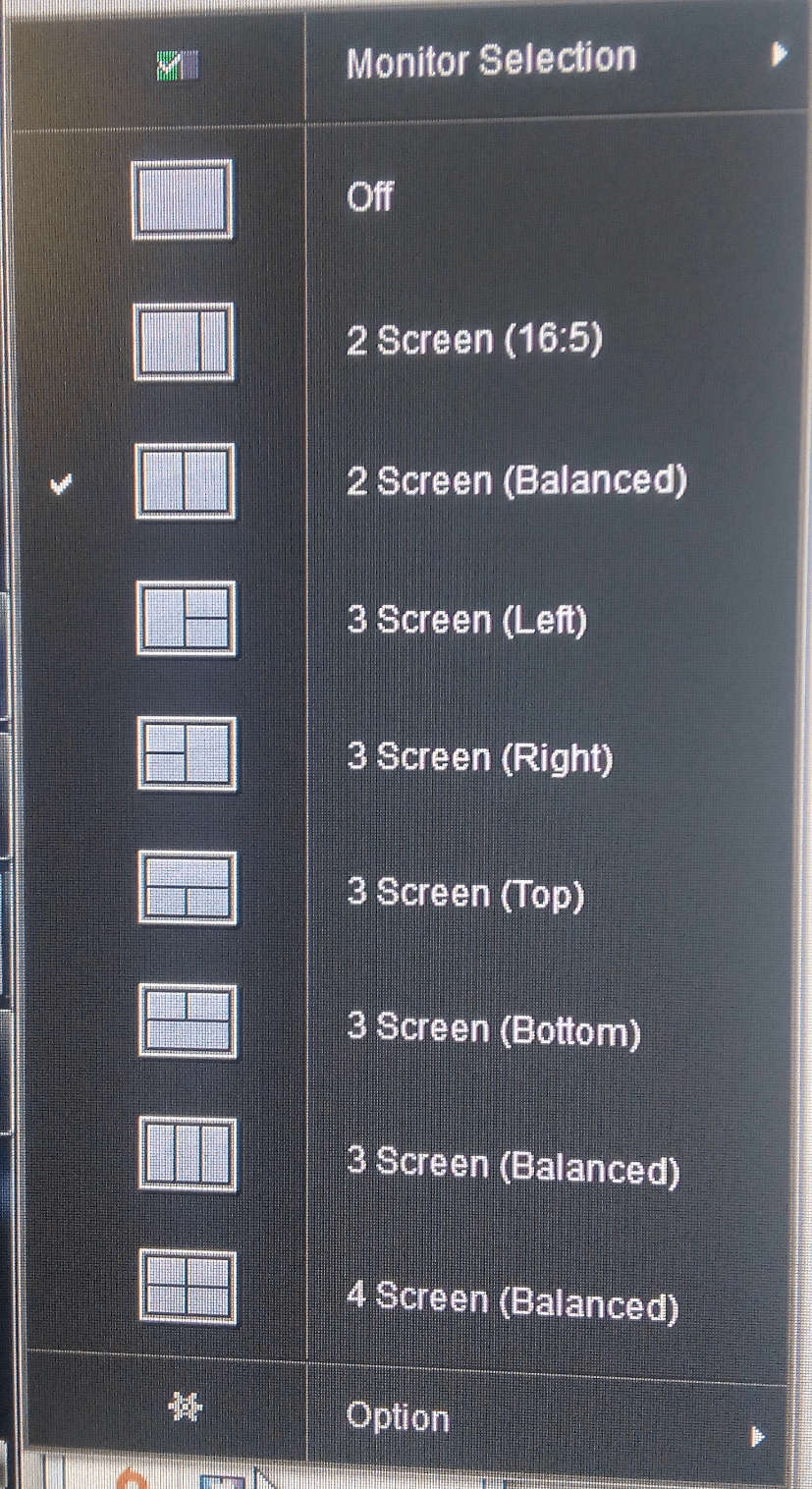 Screensplitmenu