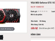 Nvidia GTX 1070 Ti weblistings