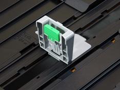 Geleiding papierlengte bovenste lade detail