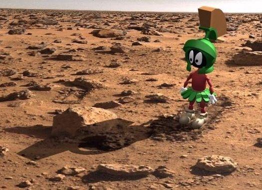 Marsmannetje Marvin op Mars