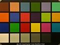 Samsung Galaxy Tab 10.1 - kleurenkaart met lamplicht