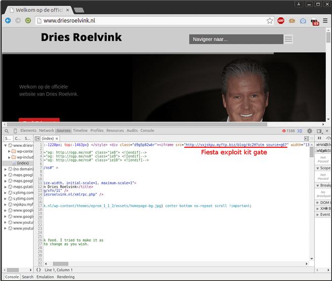 Dries Roelvink malware