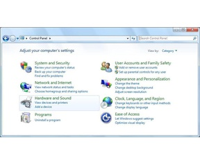 Control Panel Windows 10 Windows 7