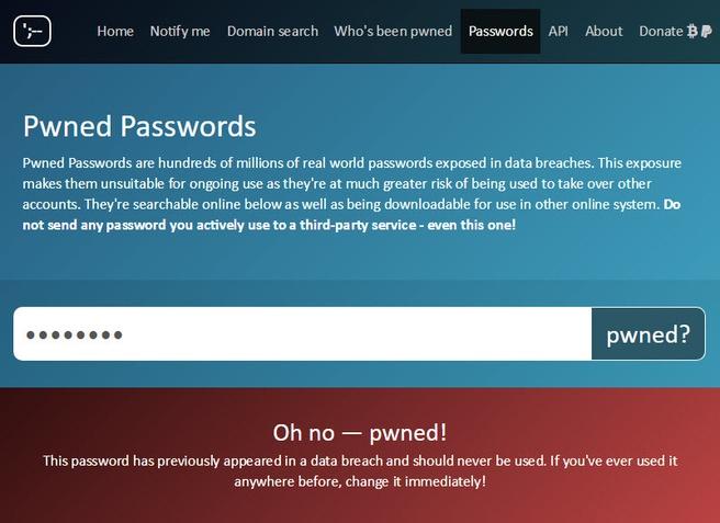 Pwned Password