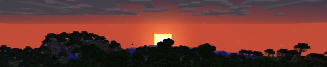 Minecraft Forum zonsondergang
