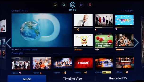 Samsung Smart Hub On TV paneel 610px