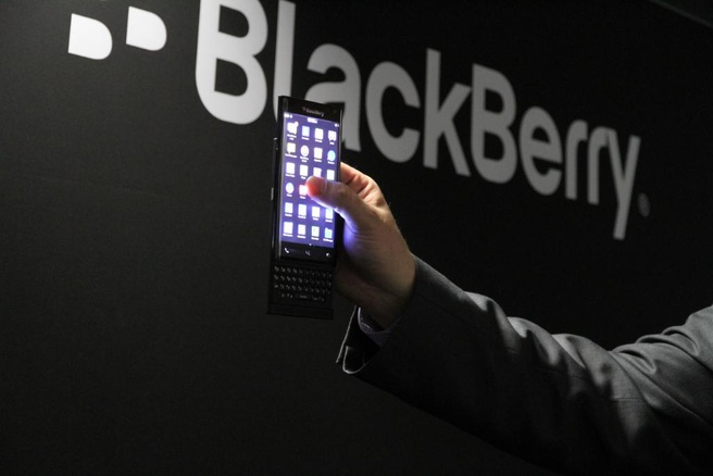 BlackBerry curved slider
