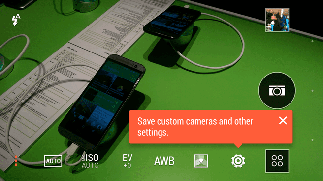 HTC One M8 - camera interface