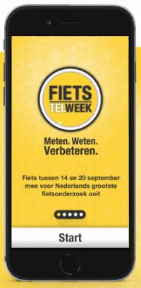 Screenshot Fiets Telweek-app