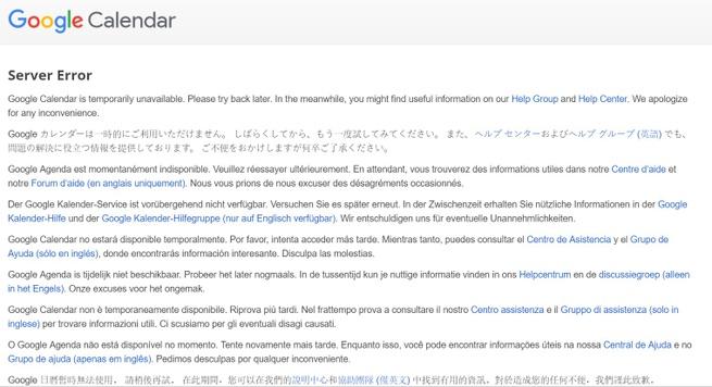 Google Calendar problem