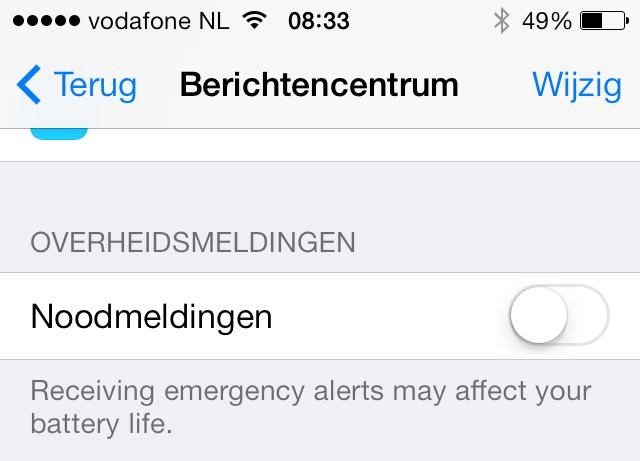 hollandse nieuwe iphone 5s instellen