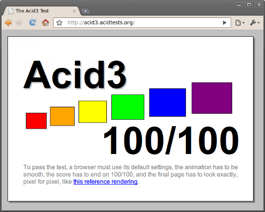 Acid3 renderingtest