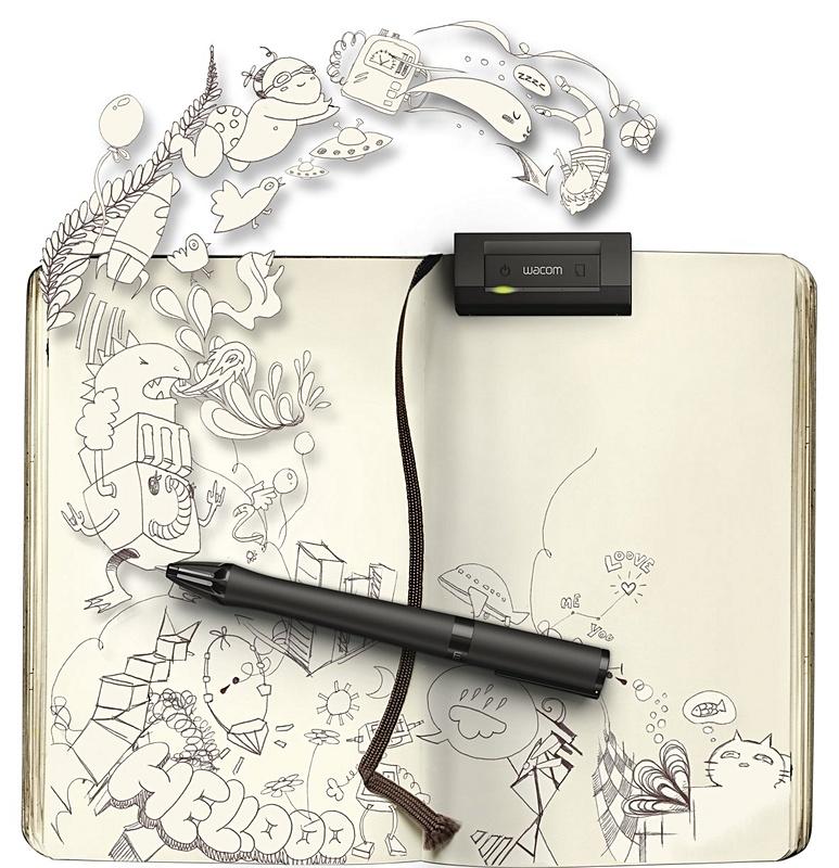 Wacom inkling pen digitaliseert schetsen op papier for Schets programma