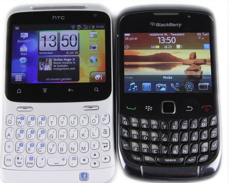 HTC ChaCha en BlackBerry Curve 3G