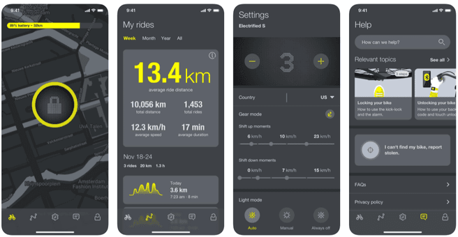 VanMoof X3 S3 app