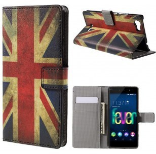 qMust Wiko Fever 4G Wallet Case - hoesje met stand - UK