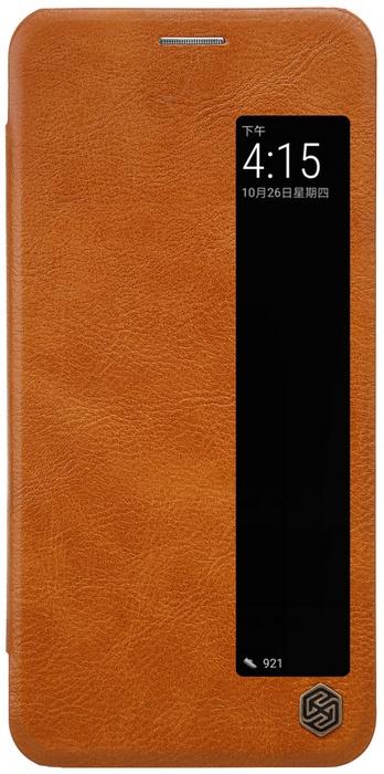 Nillkin Qin View Hoesje Book Case voor Huawei P20 - Bruin  Bruin