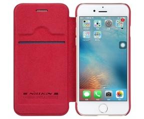 Nillkin Qin PU Leather Book Case - Apple iPhone 7 Rood