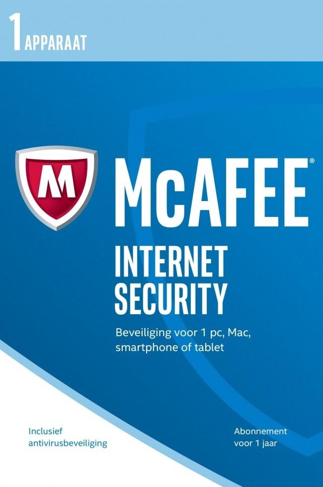 McAfee , Internet Security 2017 (1 Gebruiker ) (1 Jaar) (Dutch)