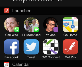 Launcher, iOS-app