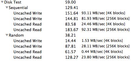 750GB HDD xBench