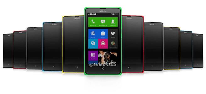 Nokia Normandy render met homescreen
